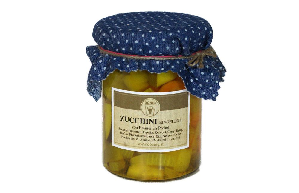 Zucchini eingelegt